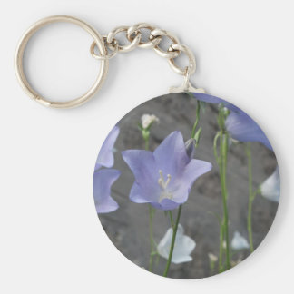 Bell flower basic round button key ring