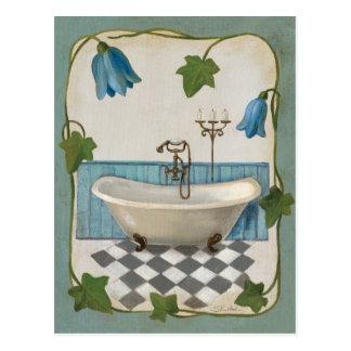 Bell Flower Bath Postcard