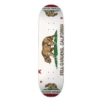 Bell Gardens California Distressed Skate Board Deck