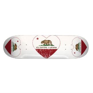 Bell Gardens California Heart Distressed Skate Decks