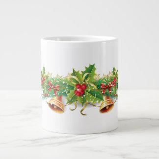 Bell Garland 20 Oz Large Ceramic Coffee Mug Jumbo Mug