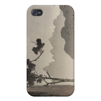 Bell hanging from a tree - Japanese Woodblock Case For iPhone 4