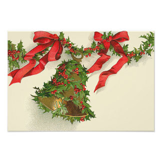 Bell Holly Red Ribbon Berry Garland Photo