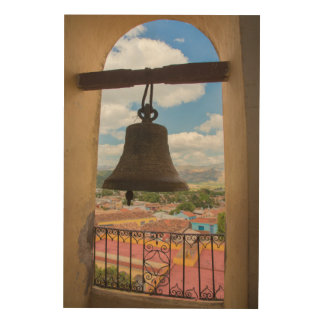 Bell in a church tower, Cuba Wood Prints