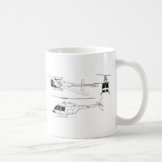 Bell Jet Ranger / TH- Basic White Mug