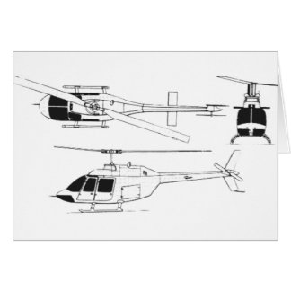 Bell Jet Ranger TH- Greeting Cards