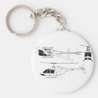 Bell Jet Ranger / TH- Key Ring