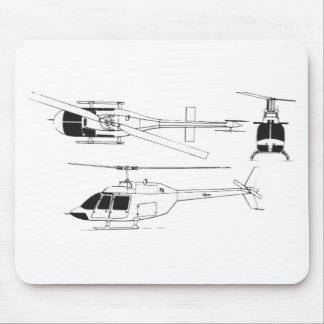 Bell Jet Ranger / TH- Mouse Mat