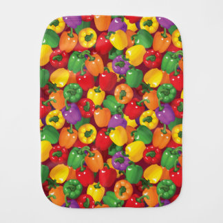 Bell Pepper Pattern Burp Cloth