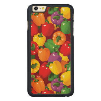Bell Pepper Pattern Carved Maple iPhone 6 Plus Case