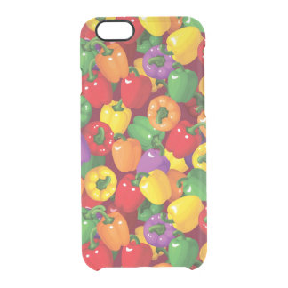 Bell Pepper Pattern Clear iPhone 6/6S Case