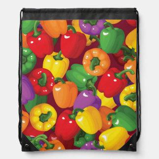 Bell Pepper Pattern Drawstring Bag