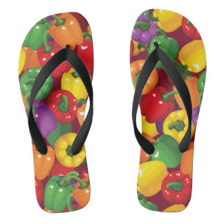 Bell Pepper Pattern Flip Flops