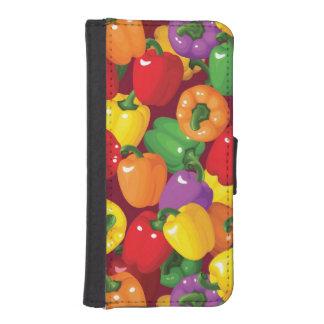 Bell Pepper Pattern iPhone SE/5/5s Wallet Case