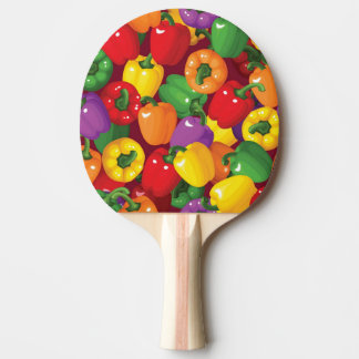 Bell Pepper Pattern Ping Pong Paddle