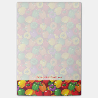 Bell Pepper Pattern Post-it Notes
