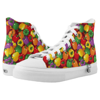 Bell Pepper Pattern Printed Shoes