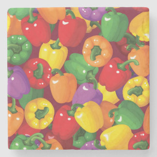Bell Pepper Pattern Stone Coaster