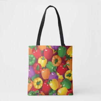 Bell Pepper Pattern Tote Bag