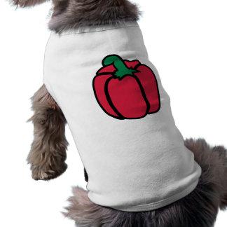 Bell pepper sleeveless dog shirt
