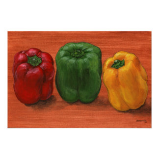 Bell Pepper Trio Poster