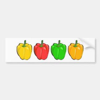 Bell Peppers Bumper Sticker