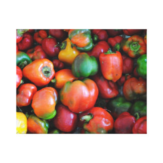 Bell Peppers Stretched Canvas Prints