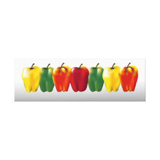 Bell Peppers Kitchen Food Art 8x25 Canvas Print