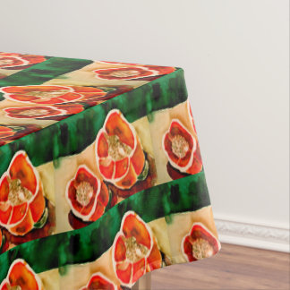 Bell Peppers Vegie Watercolor Contemporary Kitchen Tablecloth