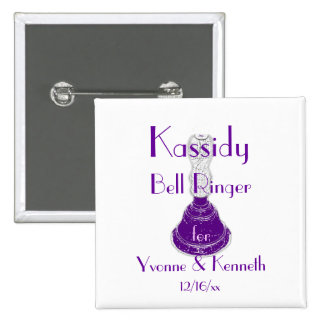___Bell Ringer w Names and Wedding Date Button