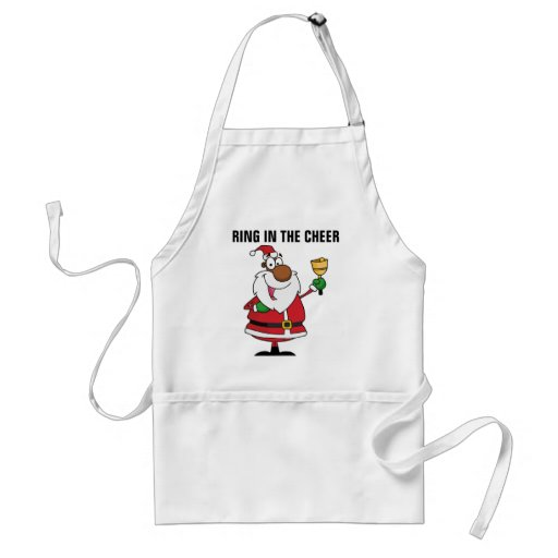 Bell Ringing Black Santa Claus Apron