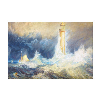 Bell Rock Lighthouse Joseph Mallord William Turner Canvas Print