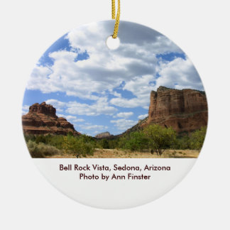 Bell Rock Vista, Sedona, Arizona Round Ceramic Decoration