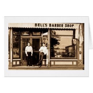 Bell s Barber Shop Vintage Americana Card