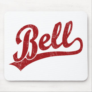 Bell script logo in red mouse pad