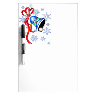 Bell & Snowflakes Dry-erase Board