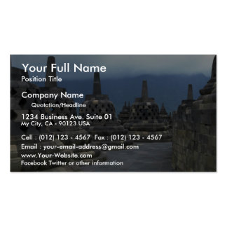 Bell structures, Borobudur, Java, Indonesia Pack Of Standard Business Cards