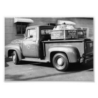 Bell Telephone Ad Truck 1950's Dyersburg Jackson T Photo Print