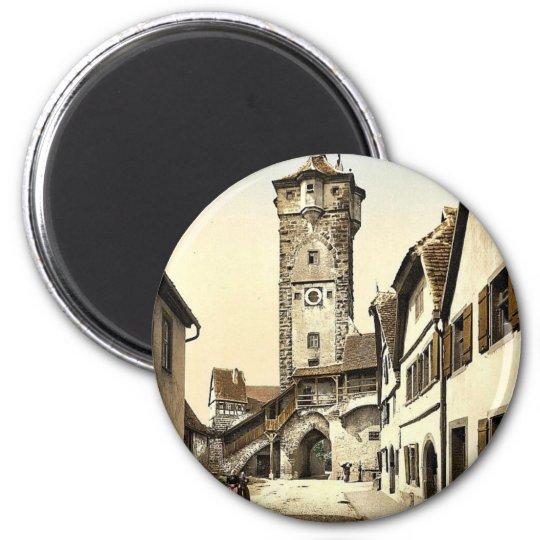 Bell tower (klingen Tor), Rothenburg (i.e. ob der 6 Cm Round Magnet