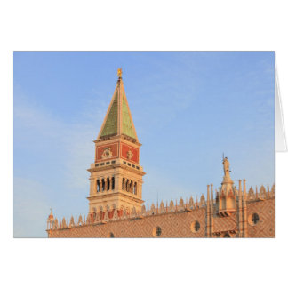 Bell Tower, Piazza San Marco, Venice, Italy Card