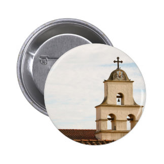 Bell Tower Santa Barbara Mission 6 Cm Round Badge