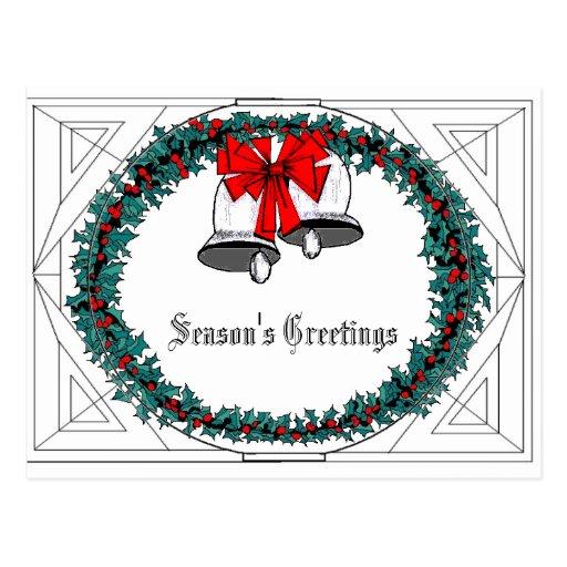 Bell Wreath Postcard