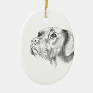 Bella A Boxer Labrador Retriever Dog Butterfly Christmas Ornament