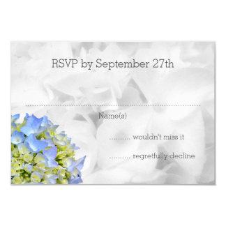 Bella Blue Hydrangea Wedding RSVP Cards 9 Cm X 13 Cm Invitation Card