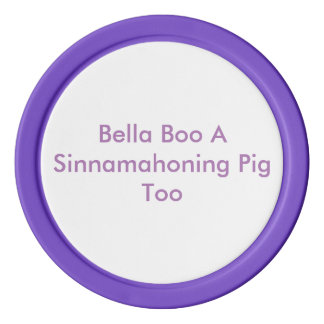 Bella Boo Purple Poker Chips