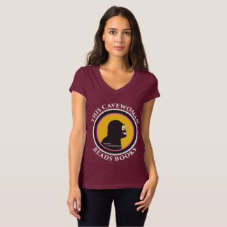 Bella Canvas V-Neck T-Shirt: Read Smart Cavewoman T-Shirt