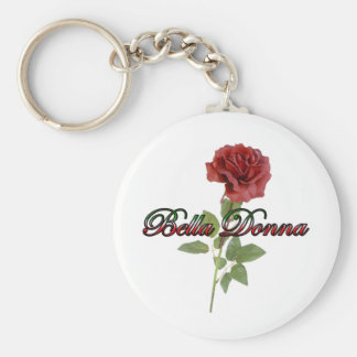 Bella Donna Basic Round Button Key Ring