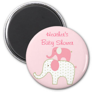 Bella Elephant Pink Party Favour Magnets