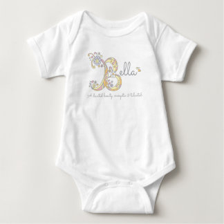 Baby name meaning gifts t shirts art posters other gift bella girls b name meaning monogram baby clothes baby bodysuit negle Gallery