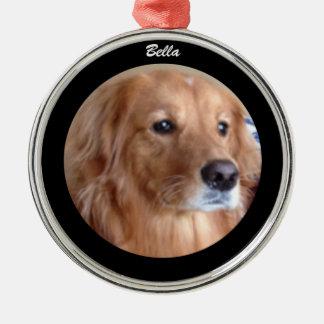 Bella Golden Retriever Round Ornament, Custom Christmas Ornament